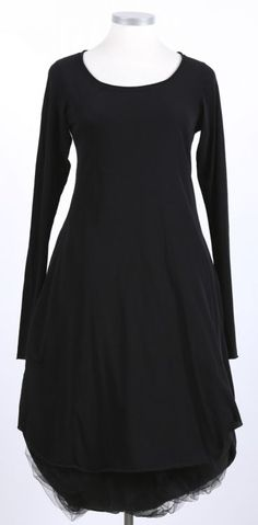 rundholz - Kleid mit Falte Stretch Langarm black - Sommer 2015