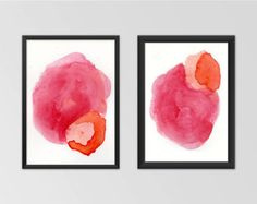 Modern Art Print Set Fine Art Print Gift for by AdriLunaStudio