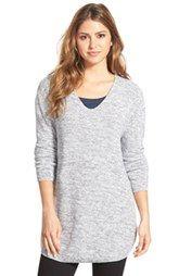 BobeauV-Neck Tunic Sweater