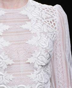#Valentino #Fashion #Couture ::  lace:: white :: decoration :: floral :: inspiration :: bridal :: wedding ::