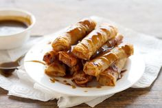banana lumpia.  we will use rice paper or won ton wrappers in this recipe.