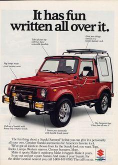 Suzuki Samurai 1988 ad