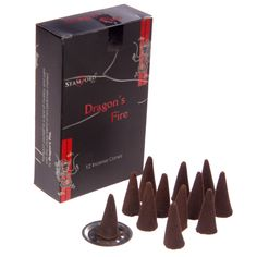 Stamford Black Incense Cones - Dragons Fire Incense is an inexpensive way of adding fragrance and ambience to your home and we have a huge collection