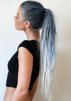 Best of white ombre hairstyles and hair color ideas with or without hair extensions. Various balyage and sombre white to gray mixes for your inspiration. White Ombre Hair, Ombre Hair Color, Blue Ombre, Polaroid, Reverse Ombre, Ombre Hair Extensions, Caramel Hair, Hair Trends, Hair Inspiration