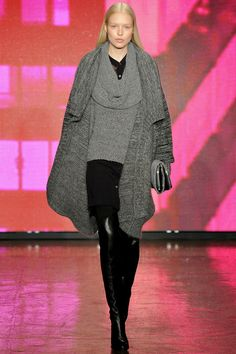 DKNY's collection with an urban focus.  Layering done right can detract the attention from parts of your body you don't want to show. Done wrong can make you appear bigger!