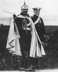 Another interesting pic (more ww1 than ww2): The Kaiser and Churchill.
