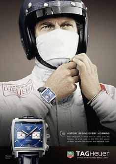 Steve McQueen & Tag Heuer MONACO   The King Of Cool   Actor   Rider