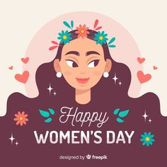 Sideways avatar of woman with flowers for women's day Women's Day 8 March, 8th Of March, Happy Woman Day, Happy Women, Aline Rosa, Womens Day Quotes, Happy International Women's Day, Woman Silhouette, Day Wishes