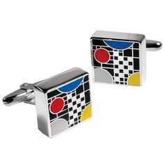 Frank Lloyd Wright Coonley Playhouse Cuff Links - The Met Store