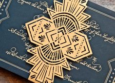 gorgeous art deco invitations - Google Search