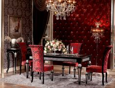 Fascination Series Dining Room | Luxury Furniture and Lighting | Italian Style Furniture | Crystal Chandeliers | Modern and Classic Furniture