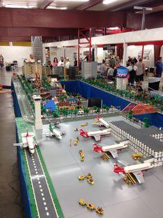 MichLUG LEGO layout at the Caesar Creek Market in Wilmington Ohio. July 26/27 2014.