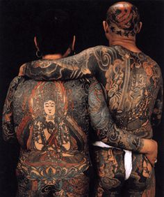 japanese full body yakuza tattoo design for men