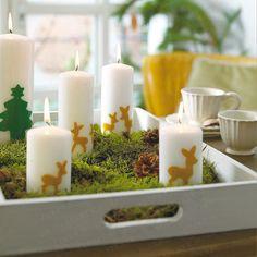 Weihnachtsdeko basteln für ein heimeliges Zuhause - kerzen-reh11  Rezept