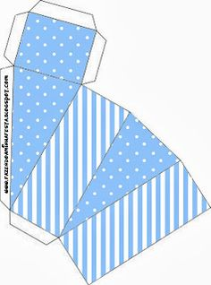 complete kit of boxes and gifting pkgs in blue 3d Paper Crafts, Paper Toys, Diy Paper, Diy Gift Box, Diy Box, Printable Box, Diy Birthday Decorations, Baby Kit, Free Boxes