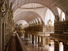 Mafra National Palace library in Mafra, Portugal