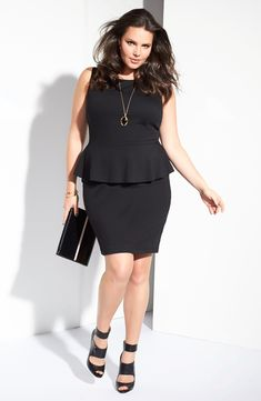 Curvy girl preplum dress