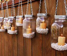 Πώς να διακοσμήσετε την βεράντα με τα γυάλινα βαζάκια που έχετε σπίτι | Jenny.gr
