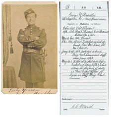 George W. Bradley 15th Illinois KIA CDV Bradley rose  to the rank of Captain and was killed on picket line, night of  May 28, 1863. Comes with his records, image identified by  Roger Hunt. No Back mark.