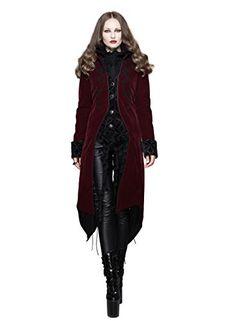 Steampunk Coat Burgundy Victorian Punk Pirate Tailcoat Wedding Jacket Cyberpunk Renaissance Costume