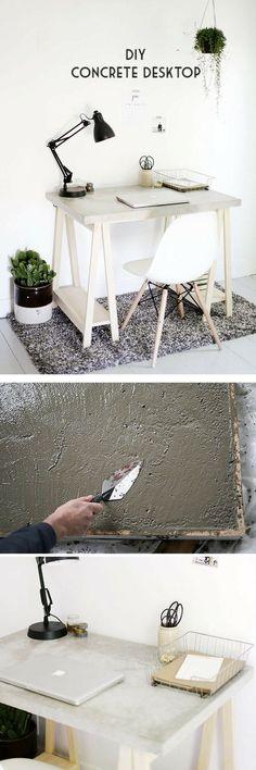 Check out the tutorial how to build a DIY concrete desktop @istandarddesign