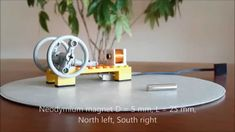 LEGO style solenoid engine Stirling Engine, Lego Mindstorms, Neodymium Magnets, Electric Motor, Inventions, Innovation, Engineering, Toys, Solar