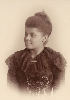 """afro-textured-art: """"Post-Civil War Hairstyles African-American Women Part The first photograph is from the book """"In Christ's Stead"""": Autobiographical Sketches, which is the memoir of Joanna P. Civil Rights Leaders, Civil Rights Activists, Civil Rights Movement, Suffrage Movement, Ida B Wells, Women In History, Black History, Civil War Hairstyles, We Will Rock You"""