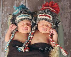 sock monkey hats