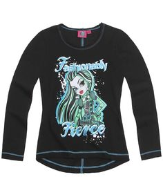 Monster High Long Sleeve T-Shirt black (8 yrs)