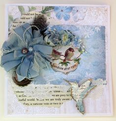 Blue Fern Gardens Parlour and Calling Card Papers, and the Little Bird chipboard collection
