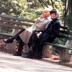 Jackie and Maurice in Central Park.