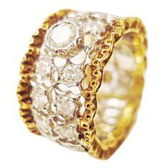 1stdibs | Mario Buccellati Gold and Diamond band ring