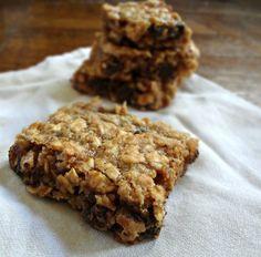 Gooey Peanut Butter Oatmeal Chocolate Chunk Bars (GF/DF)