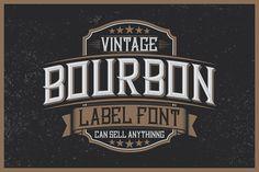 Bourbon Label typeface Font  @creativework247