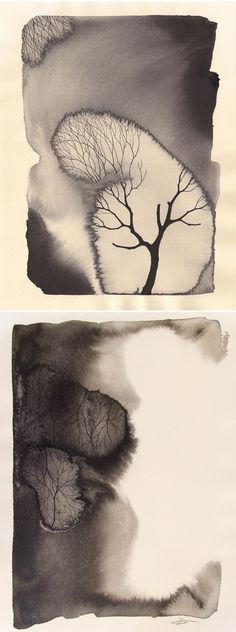 Beautifully eerie ink on paper pieces from Pablo S Herrero Art Watercolor, Painting & Drawing, Collage Kunst, Art Plastique, Ink Art, Gouache, Love Art, Amazing Art, Awesome