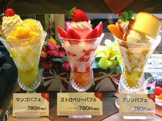 japanese ice cream fruit parfait -