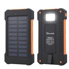 29c42e3ba4f Tollcuudda Waterproof Portable Solar Charger Dual USB Battery Power Bank  For iPhone 7 Samsung Smartphone Travel charger