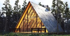 Malé domy Are A-frame Cabin Kits Worth it? - Rustic Design % Unique Home Decor - Thinking Outside th A Frame Cabin, A Frame House, Ideas De Cabina, Adobe, Cabin Kits, Rock Decor, Modular Homes, Cabin Homes, Kit Homes