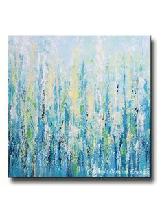 """""""Peaceful Blues"""" Giclee Print / Canvas print of Original Blue Abstract Painting Contemporary Coastal Fine Art Modern palette knife UNIQUE ombre effect turquoise Light Painting, Blue Abstract Painting, Abstract Watercolor, Canvas Wall Art, Wall Art Prints, Grand Art, Ouvrages D'art, Contemporary Abstract Art, Modern Art"""