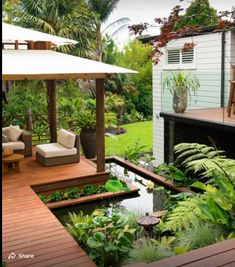 Thinking of Creating a New Patio in Your Backyard? Need a Few Backyard Patio ideas? After a quick brainstorming session, we came up with these five backyard patio ideas that will be Read More . Garden Pond Design, Backyard Garden Landscape, Japanese Garden Design, Ponds Backyard, Patio Design, Backyard Patio, Backyard Landscaping, Landscape Design, Rooftop Garden