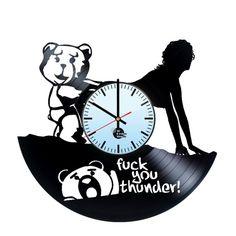 Ted Handmade Vinyl Record Wall Clock Fan Gift - VINYL CLOCKS FREE SHIPPING!!!