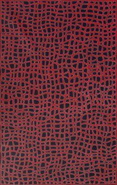Australian Aboriginal Art Painting by ABIE LOY KEMARRE - Women's Body Paint - 148 x 93 cm - AL1937 #artwork #canvas #australia