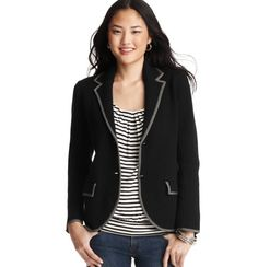 Cotton Tipped Sweater Blazer, $79.50