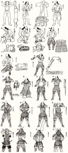 The procedure for a samurai to equip his armour