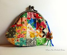 Small Patchwork Coin Purse by {Leila} Where Orchids Grow, via Flickr