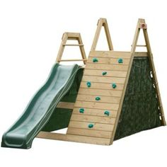 Climbing pyramid with lateral slide. Dimension x weight max. The multifunctional climbing pyramid with slide for Kids Outdoor Play, Outdoor Play Areas, Kids Play Area, Backyard For Kids, Outdoor Fun, Outdoor Play Structures, Patio Chico, Wooden Climbing Frame, Climbing Frames