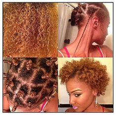 Twists, bantu knots for a fuller afro. To learn how to grow your hair longer click here - http://blackhair.cc/1jSY2ux