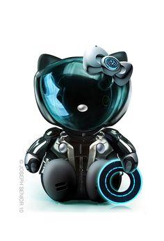 Hello Kitty como TRON.