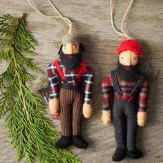 Lumberjack Ornaments by WEST ELM (i'm convinced they're Williamsburg hipsters)