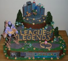 League of Legends Groom's Cake League Of Legends, Birthday Presents, Birthday Parties, Birthday Cakes, Fun Couple Activities, Movie Cakes, Fantasy Cake, Video Game Party, Cakes For Boys